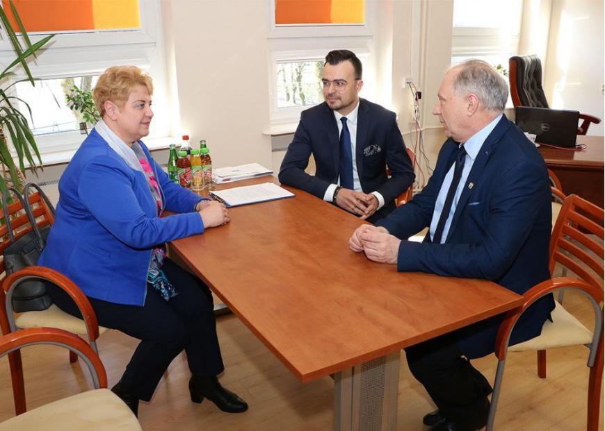 Spotkanie z burmistrzem Ryszardem Niedziółką oraz zastępcą Maciejem Wróblem